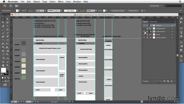 Creating mockups: Applied Responsive Design