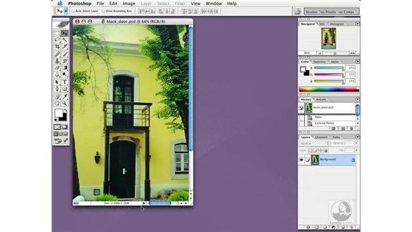understanding the document window: Photoshop CS Essential Training