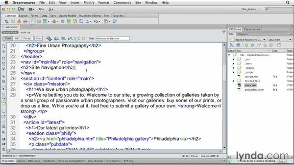 Structuring basic menus: Applied Responsive Design
