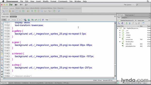 Using CSS sprites in menus: Applied Responsive Design