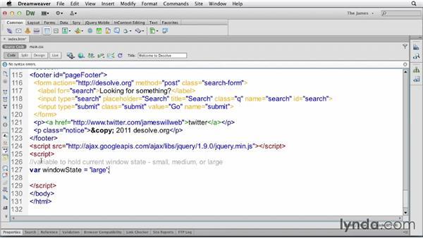 Using jQuery for menu behavior: Applied Responsive Design