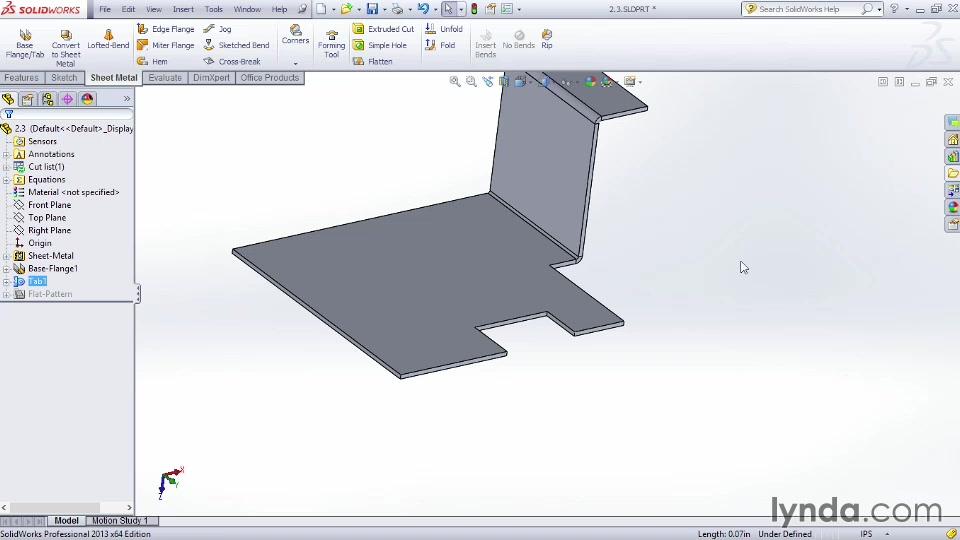 Creating Tabs Solidworks Sheet Metal Design