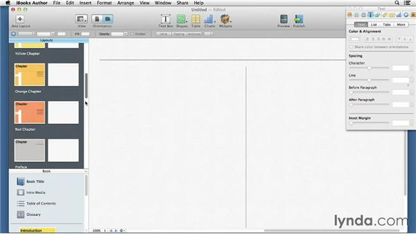 Creating and editing layouts: iBooks Author for Teachers: Fundamentals