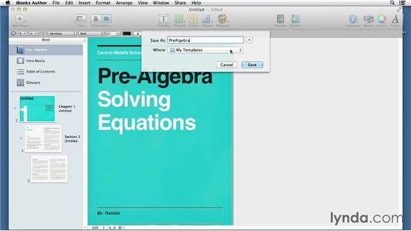 Customizing templates: iBooks Author for Teachers: Fundamentals