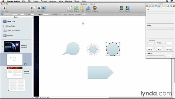 Creating shapes and using the Pen tool: iBooks Author for Teachers: Fundamentals