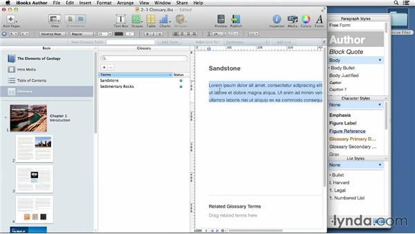 Adding glossary items: iBooks Author for Teachers: Fundamentals