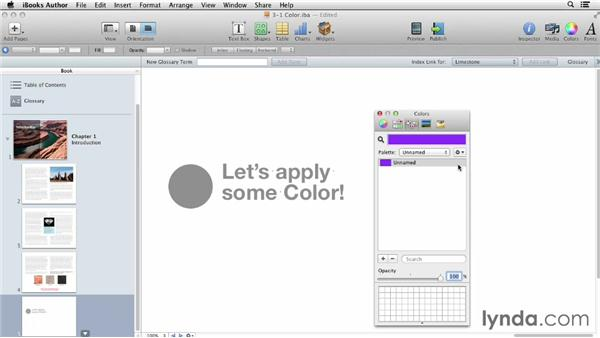 Working with color: iBooks Author for Teachers: Fundamentals