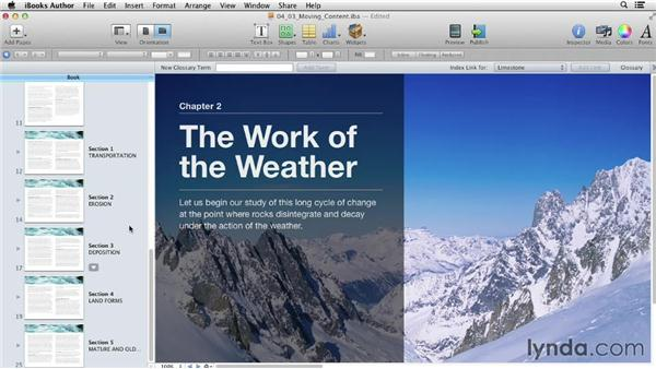 Moving content between pages, layouts, and books: iBooks Author for Teachers: Fundamentals