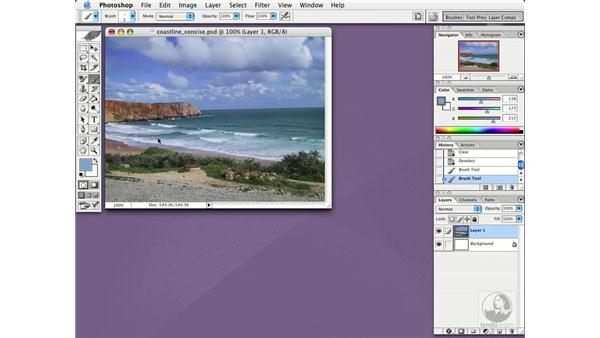 creating a history log: Photoshop CS Essential Training