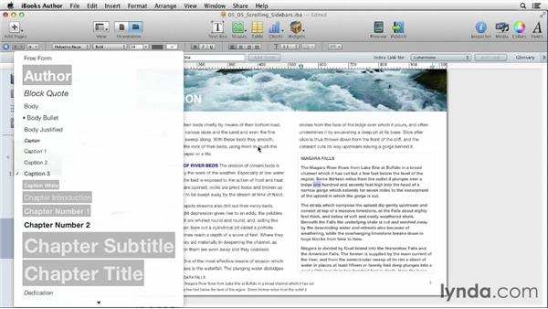 Creating scrolling sidebars: iBooks Author for Teachers: Fundamentals