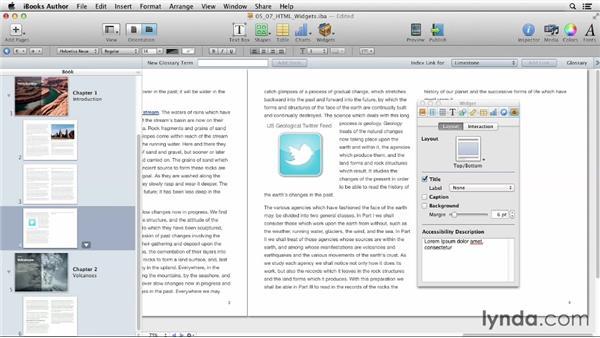 Adding HTML widgets: iBooks Author for Teachers: Fundamentals