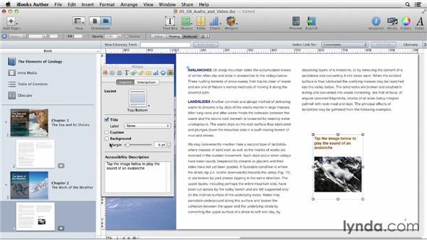 Adding audio and video: iBooks Author for Teachers: Fundamentals