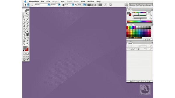 the color palette: Photoshop CS Essential Training