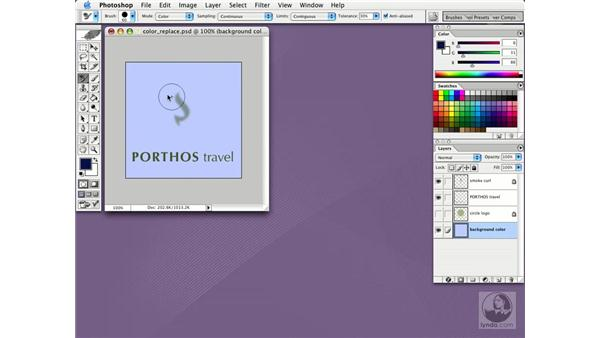 the color replacement tool: Photoshop CS Essential Training