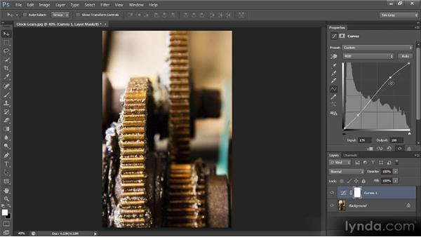 Tonal adjustments with Curves: Photoshop CS6 Image Optimization Workshop