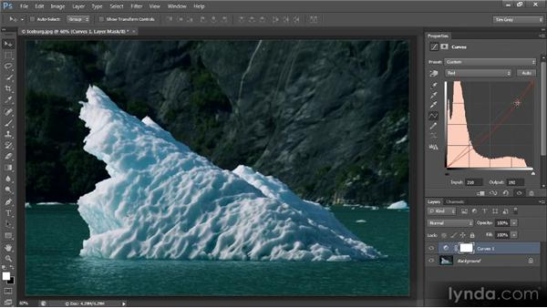 Color adjustments with Curves: Photoshop CS6 Image Optimization Workshop
