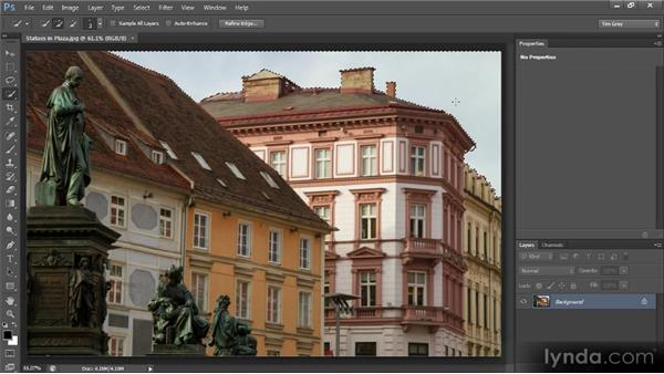 Making a targeted adjustment from a selection: Photoshop CS6 Image Optimization Workshop