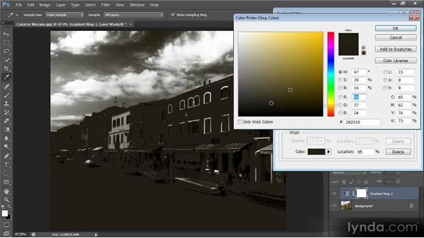 Using a gradient map: Photoshop CS6 Image Optimization Workshop