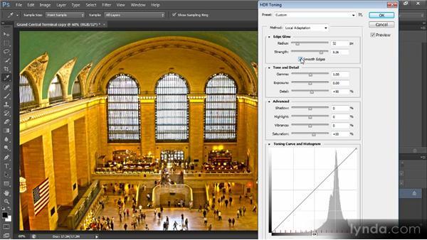 Adding an HDR toning effect: Photoshop CS6 Image Optimization Workshop