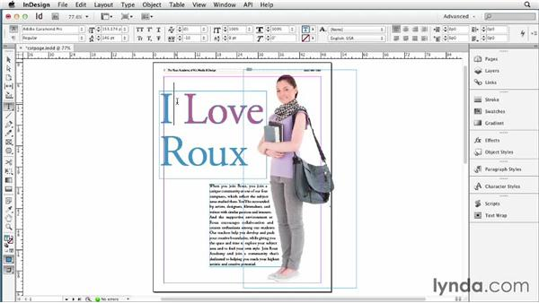 080 Adding a drop shadow to a single word inside a frame: InDesign Secrets