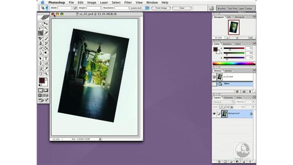 crop and straighten images: Photoshop CS Essential Training