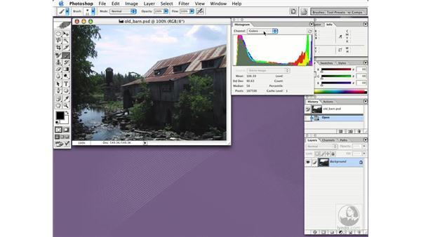 the histogram palette: Photoshop CS Essential Training