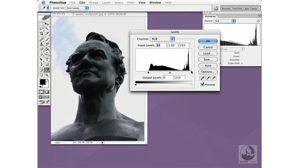 adjusting levels: Photoshop CS Essential Training