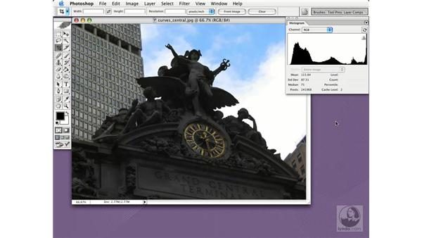 adjusting curves: Photoshop CS Essential Training