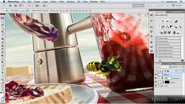 Adding the wings: Photoshop Artist in Action: Uli Staiger's Wasp Attack
