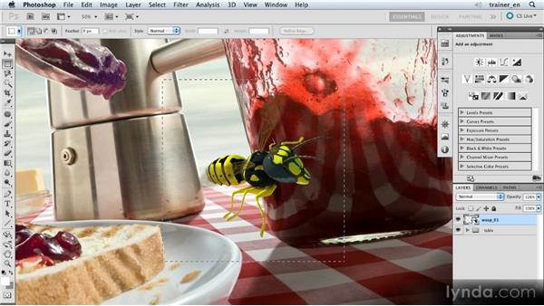 Adding motion to the whole wasp: Photoshop Artist in Action: Uli Staiger's Wasp Attack