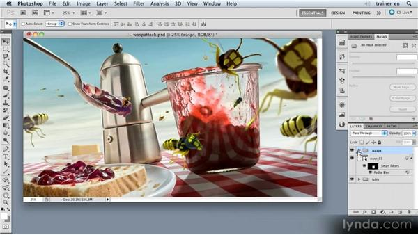 Creating a swarm: Photoshop Artist in Action: Uli Staiger's Wasp Attack