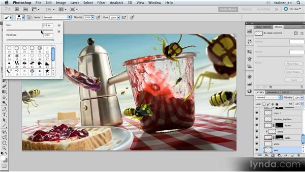 Painting a sun in the sky: Photoshop Artist in Action: Uli Staiger's Wasp Attack