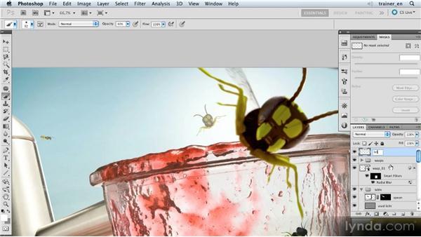 Adding sunlight: Photoshop Artist in Action: Uli Staiger's Wasp Attack