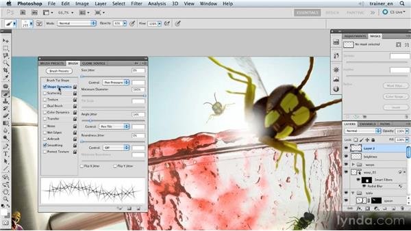 Applying refraction: Photoshop Artist in Action: Uli Staiger's Wasp Attack
