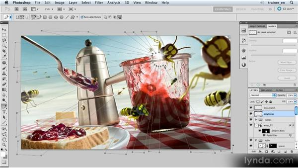 Creating sunbeams: Photoshop Artist in Action: Uli Staiger's Wasp Attack