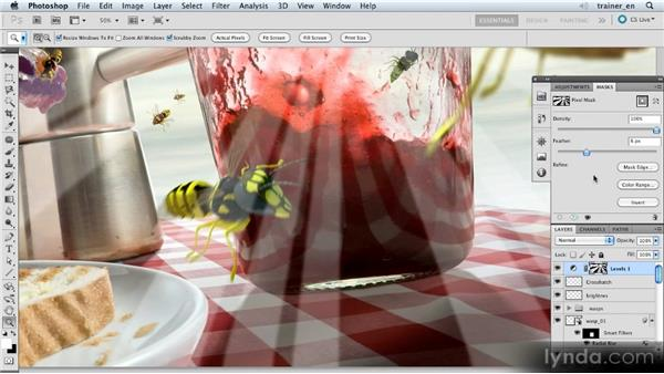 Softening and blurring the sunbeams: Photoshop Artist in Action: Uli Staiger's Wasp Attack