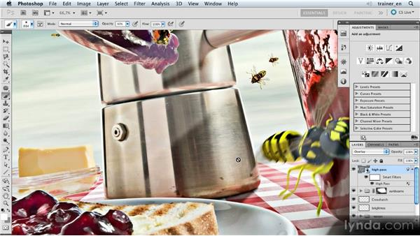 Applying the High Pass filter: Photoshop Artist in Action: Uli Staiger's Wasp Attack