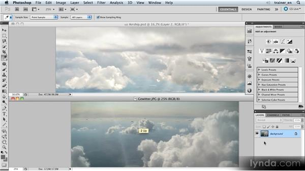 Adding a foreground cloud: Photoshop Artist in Action: Uli Staiger's Airship