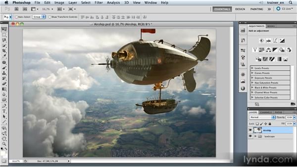 Importing the airship: Photoshop Artist in Action: Uli Staiger's Airship