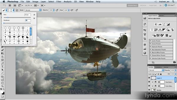 Adding sunbeams: Photoshop Artist in Action: Uli Staiger's Airship