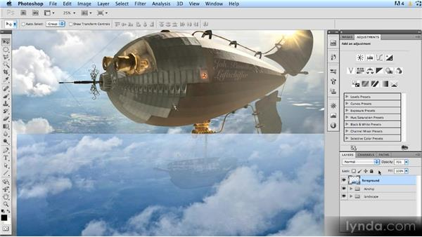 Adding clouds to hide blurriness: Photoshop Artist in Action: Uli Staiger's Airship