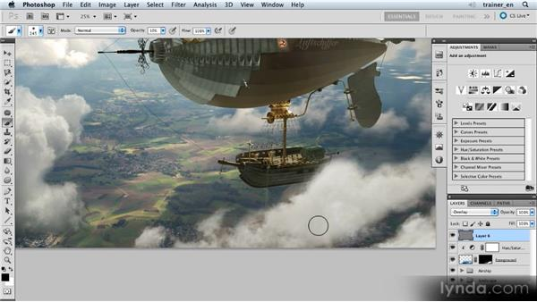 Matching lighting and contrast: Photoshop Artist in Action: Uli Staiger's Airship