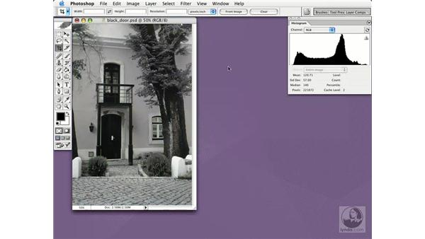 desaturate: Photoshop CS Essential Training