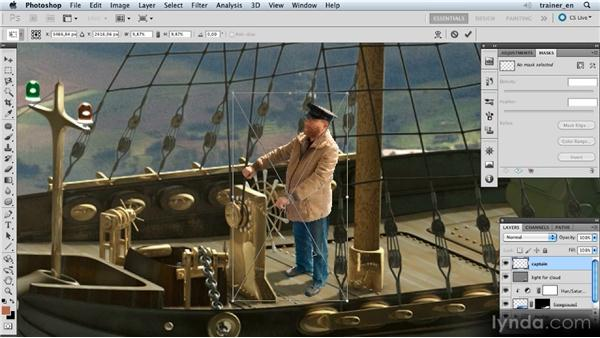 Adding the captain: Photoshop Artist in Action: Uli Staiger's Airship