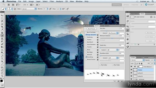 Using the custom brush tip: Photoshop Artist in Action: Uli Staiger's Atlantis