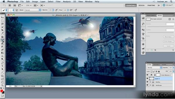 Creating a new layer and an outline: Photoshop Artist in Action: Uli Staiger's Atlantis