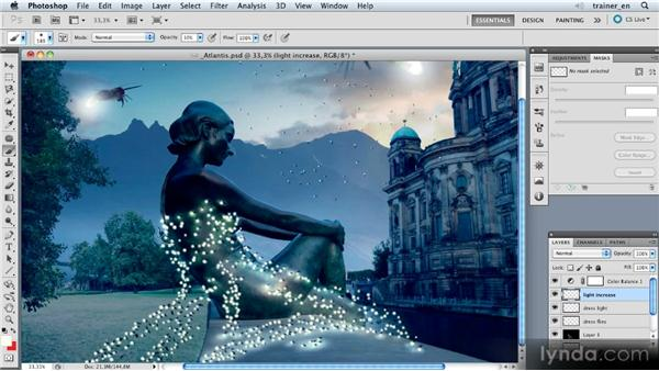 Painting the sculpture with a light effect: Photoshop Artist in Action: Uli Staiger's Atlantis