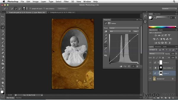 Correcting tone and color globally and locally: Photoshop Insider Training: Photo Restoration