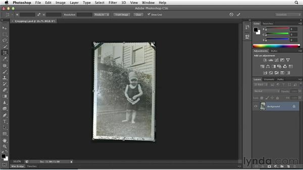 Saving time with cropping: Photoshop Insider Training: Photo Restoration