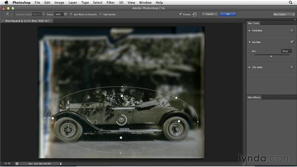 Blurring selectively for efficiency and composition: Photoshop Insider Training: Photo Restoration
